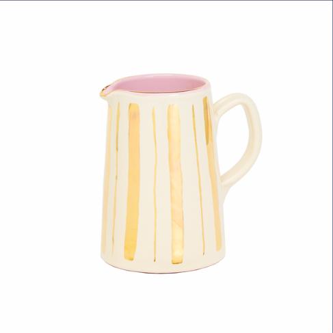 Gold Stripe Ceramic Jug, £80, Matilda Goad