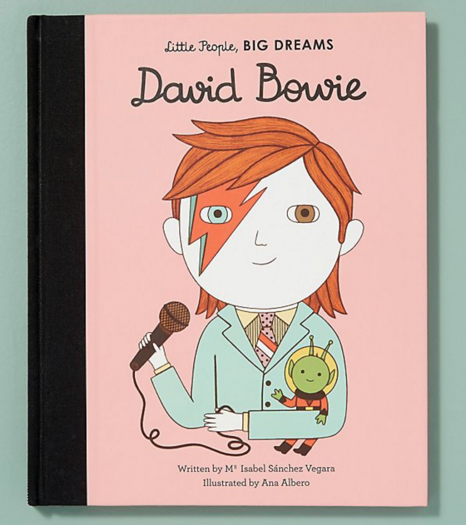 David Bowie book from the Little People Big Dreams series, £7.19, Amazon