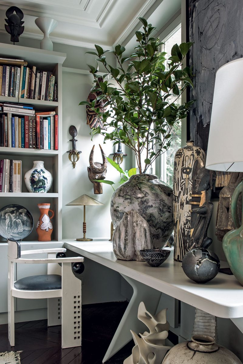 Fashion designer Andrew Gn's paris apartment is filled with his eclectic collections from an eclectic range of periods and styles. Credit Guillaume de Laubier