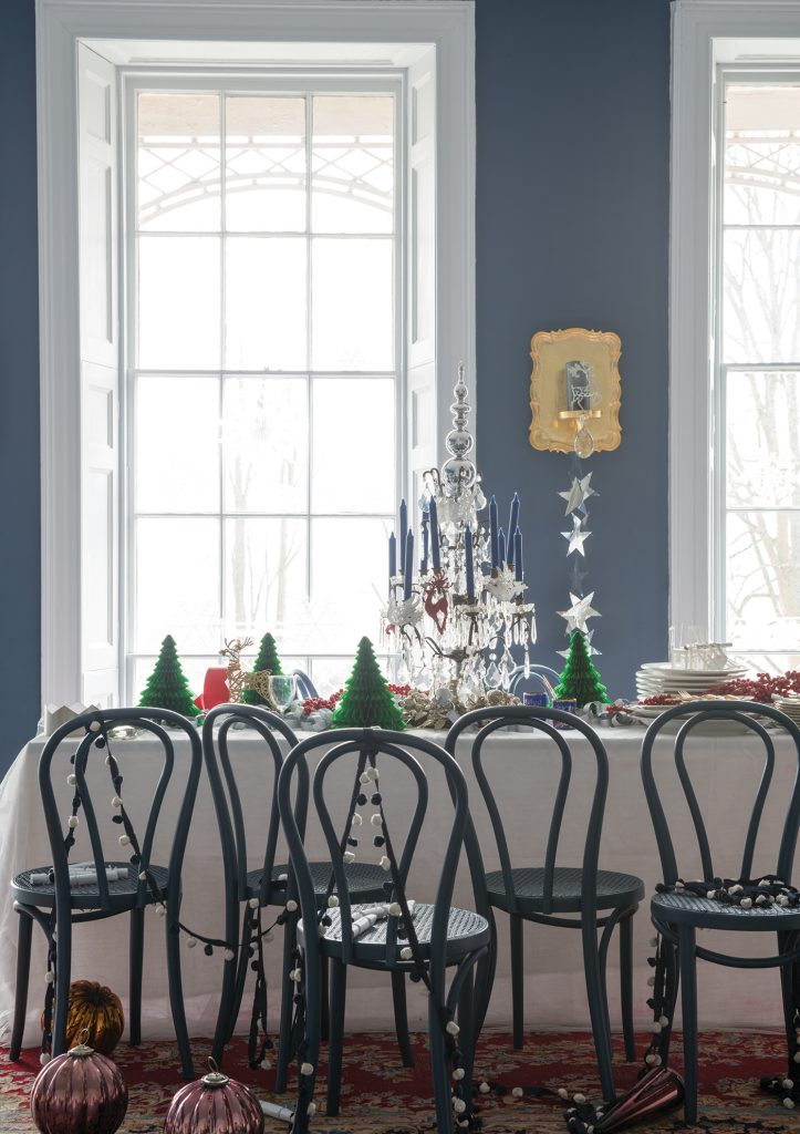 Farrow & Ball Christmas dining table