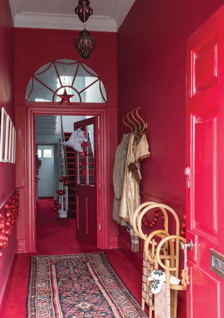 Farrow & Ball Christmas hallway