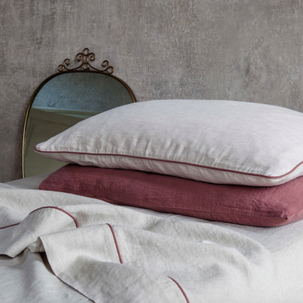 Once Milano Linen Pillowcase with Piping