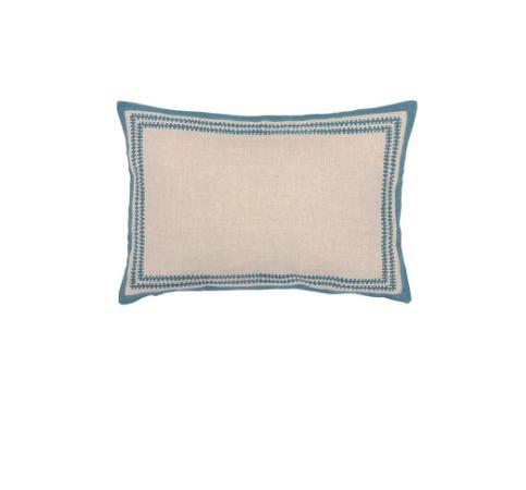 Medina Border Cushion, Marine, £40, Birdie Fortescue