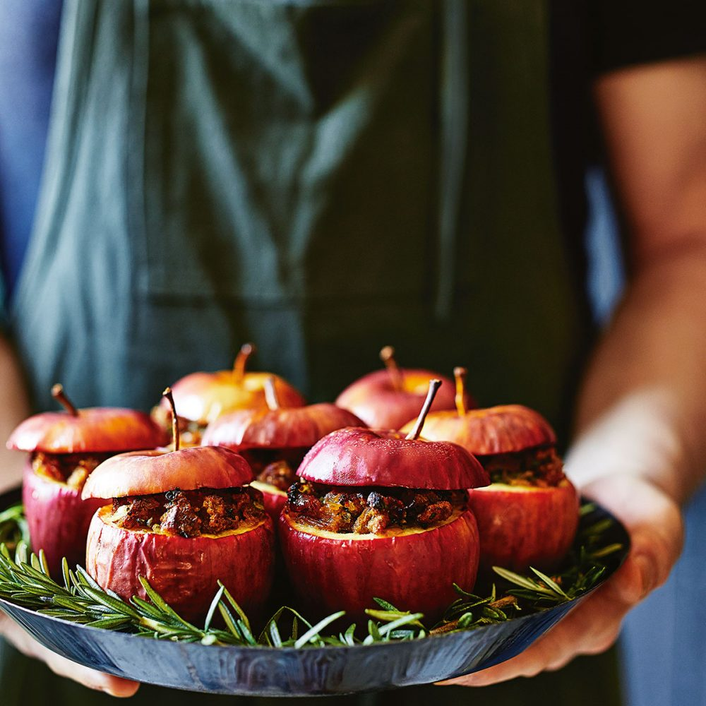 Donna Hay's Amaretti, Prosciutto and Herb Stuffed Apples