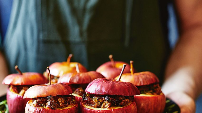 amaretti,-prosciutto-and-herb-stuffed-apples-by Donna Hay from Christmas Feasts and Treats book