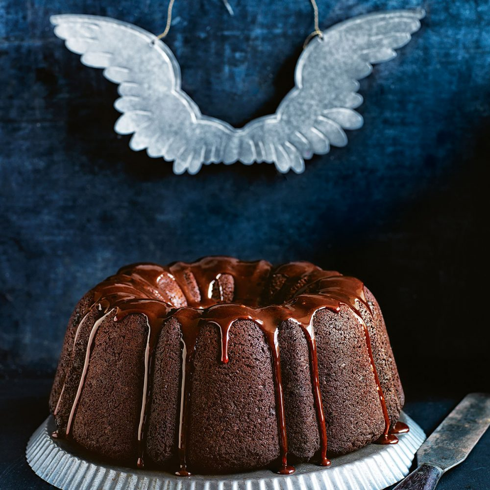 Donna Hay's Chocolate Christmas Cake with Quince Glaze