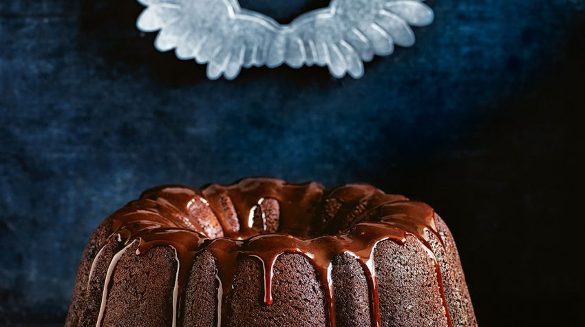 chocolate-christmas-cake-with-quince-glaze-by Donna Hay from Christmas Feasts and Treats book