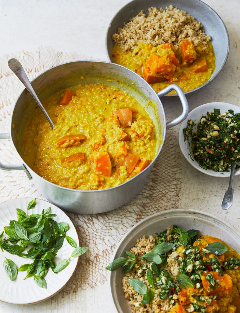 Melissa Hemsley's Squash Lentil Curry from her book Eat Green