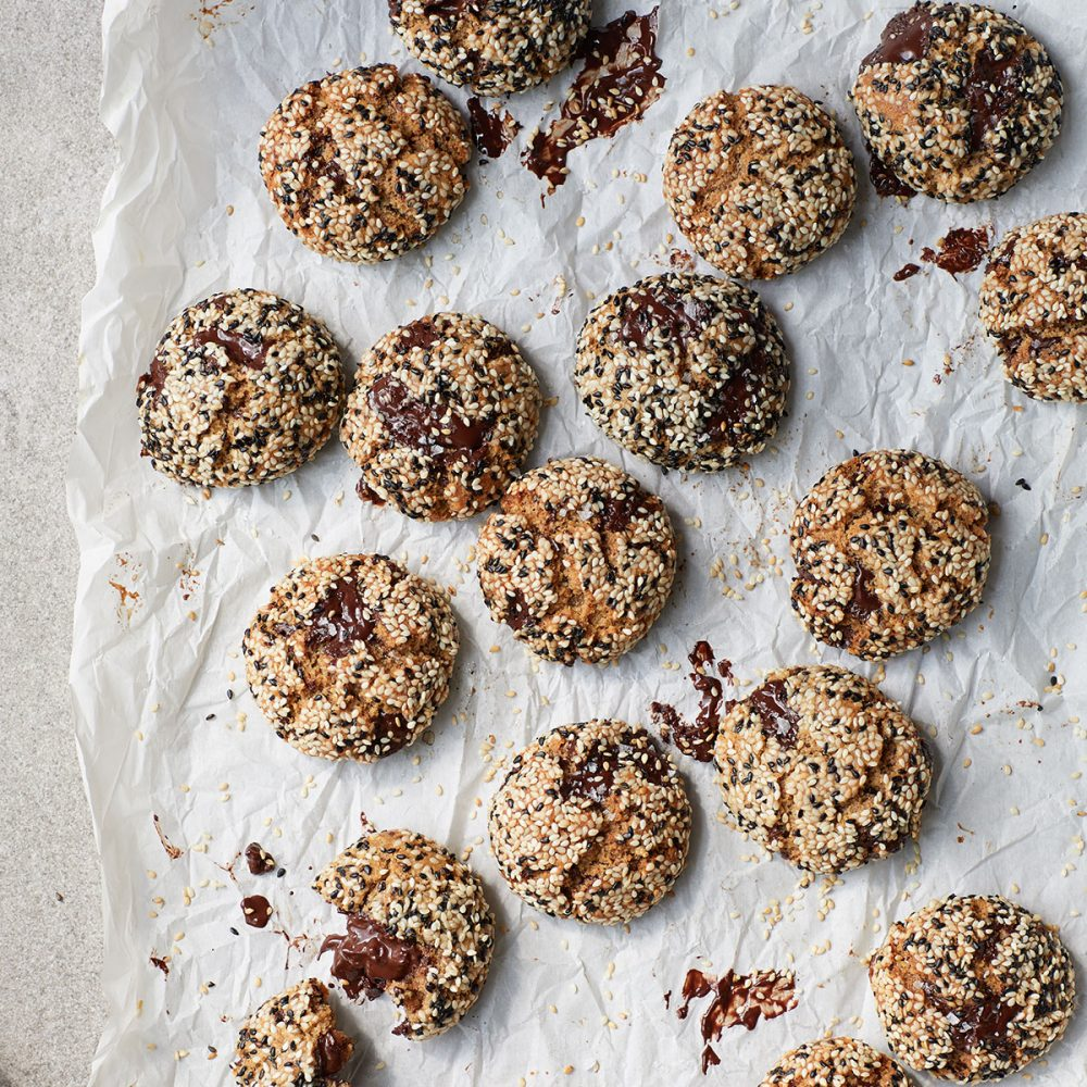 Melissa Hemsley's Tahini Choc Chip Cookies
