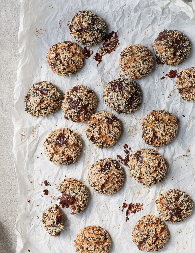 Melissa Hemsley's Tahini Chocolate Chip Cookies from her book Eat Green