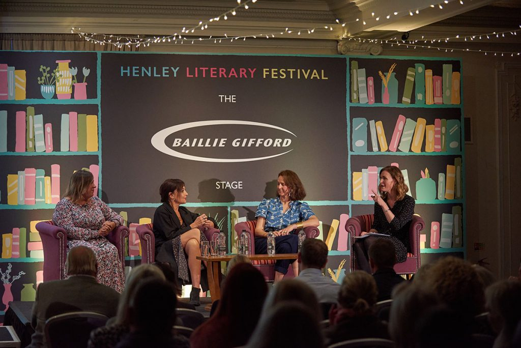 Rosalind Sack hosting a panel dicussion with Selina Lake, Pealr Lowe and Molly Mahon at the Henley Literary Festival 2019