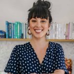 Melissa Hemsley cooking soup in her home kitchen, by Sarah Malcolm