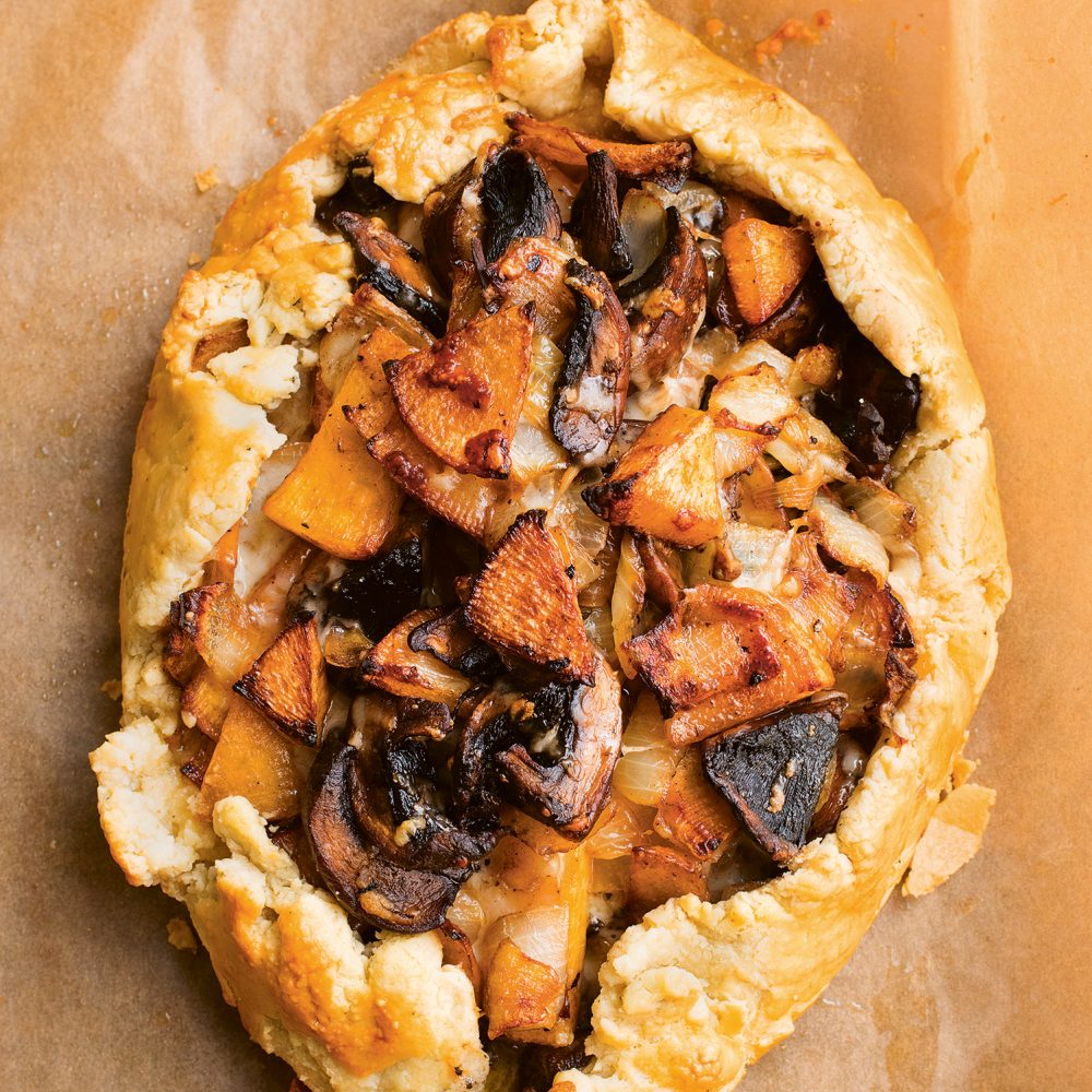 Nigel Slater's Swede Mushroom, Gruyère, Thyme Pie