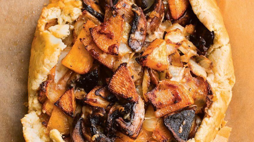 Nigel Slater Swede, Mushroom, Gruyere, Thyme, Greenfeast: autumn, winter © Jonathan Lovekin