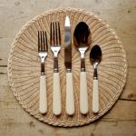 Classic ivory cutlery, 5 piece set, Cutter Brooks