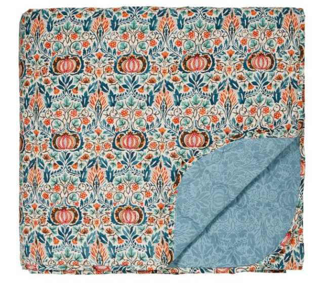 William Morris Little Chintz Quilted Throw, Bedeck