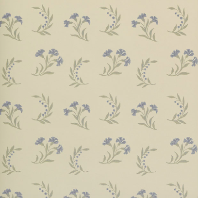 Gilly Flower Blue wallpaper by Robert Kime