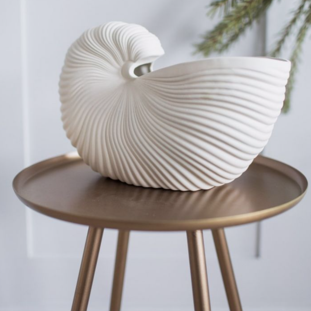 Ferm Living shell decoration, £69, Rose & Grey