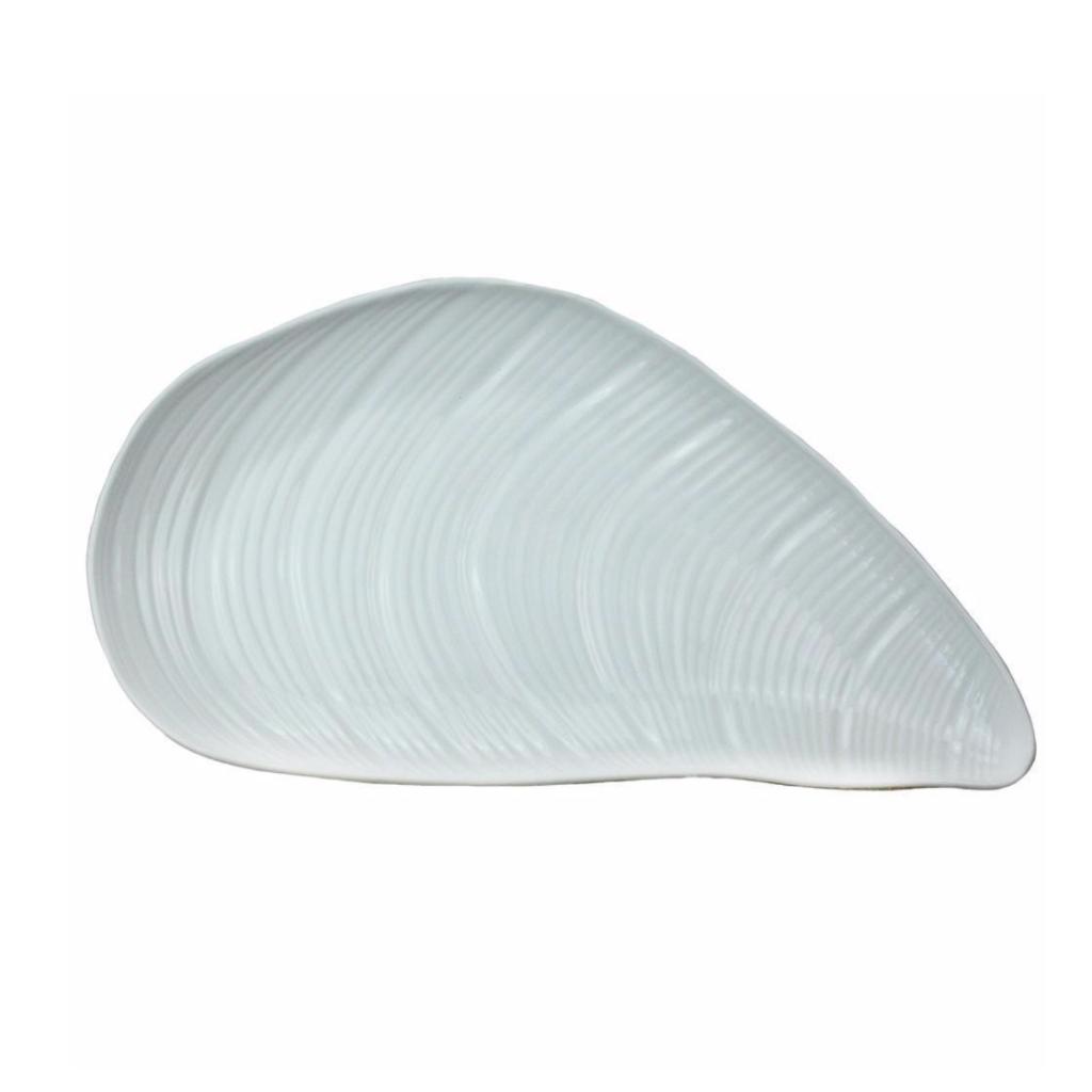Stoneware mussel shell dish, £36, Cream Cornwall