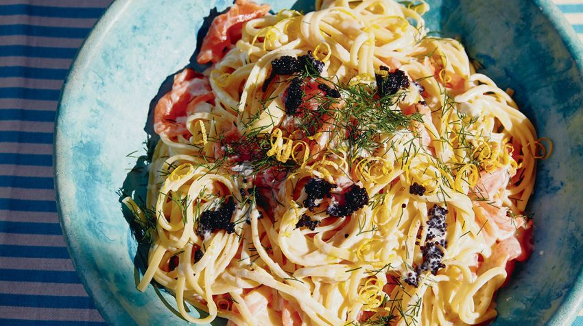 Pasta with Smoked Salmon, Vodka and Caviar from the Table Manners with Jessie Ware cookbook