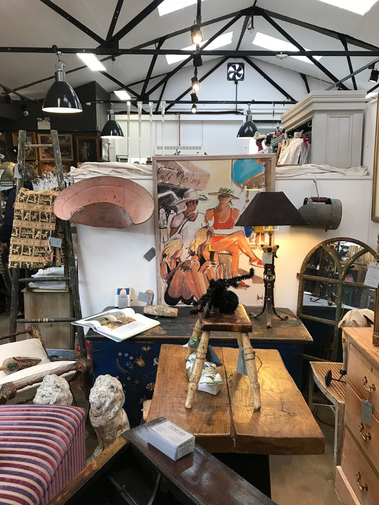 Vintage art, furniture, lighting, mirrors at Petworth Antiques Market