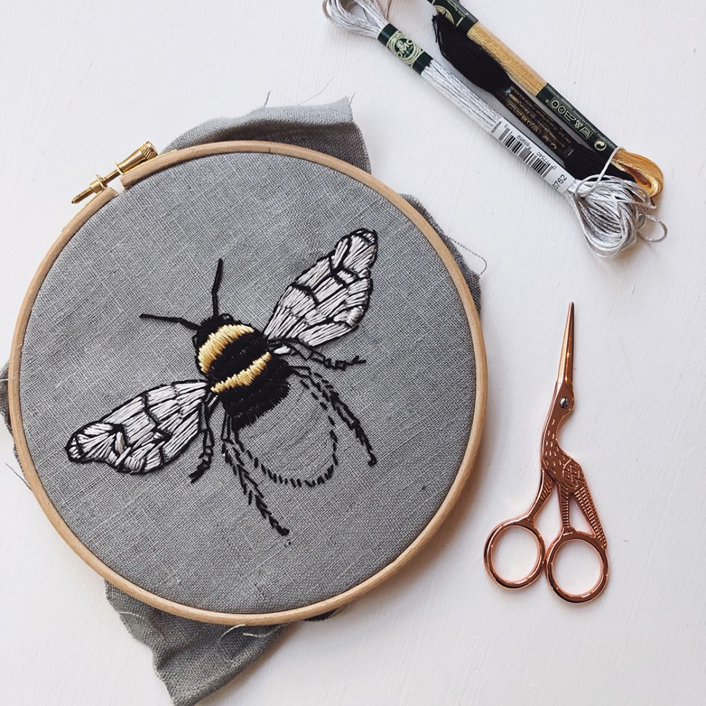 Makebox + Co subscription craft box embroidered bee