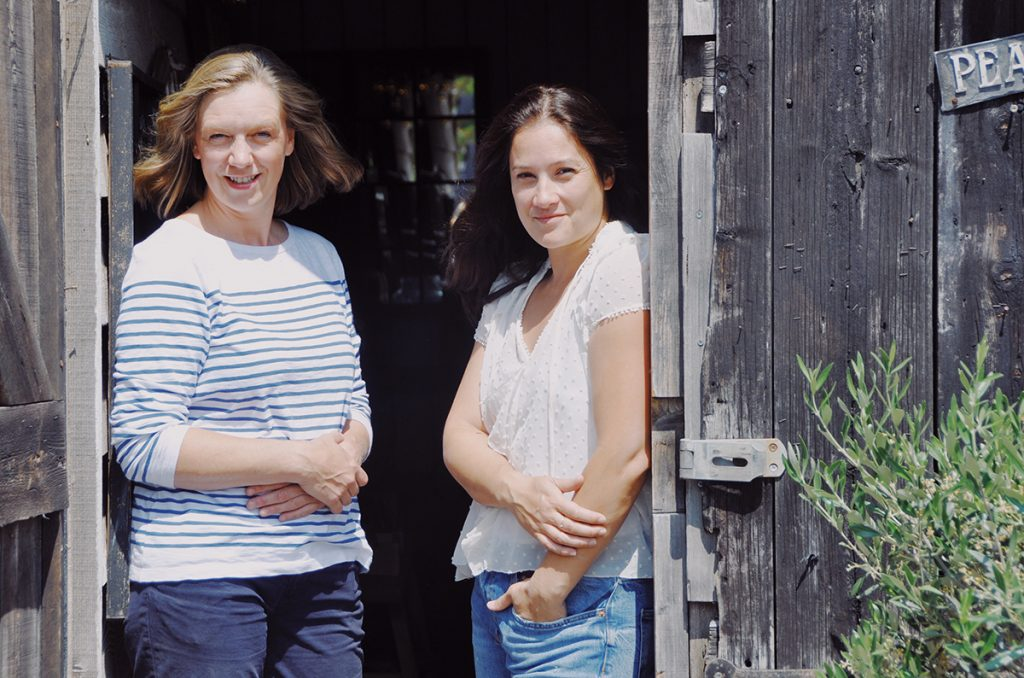 Portrait of Sarah-and-Sally-Wilkie, owners of Home Barn vintage furniture and homeware store in Marlow, Buckinghamshire
