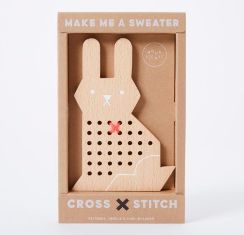 Rabbit cross stitch, £22, The Conran Shop