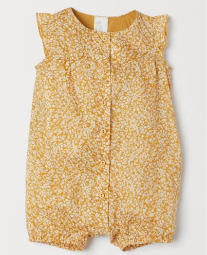 Yellow cotton romper suit H&M £12.99