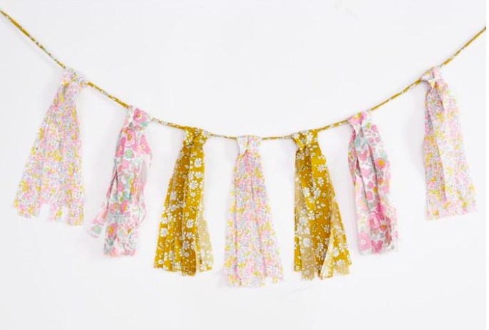 Streamer bunting in Liberty fabrics, £23.50 Coco & Wolf
