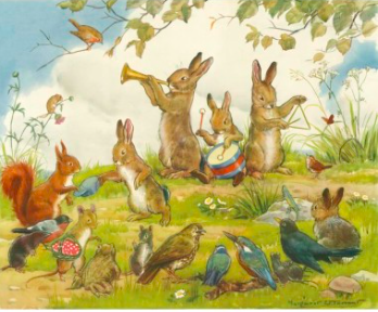 'Wandering Minstrels' by Margaret Tarrant, print from Elfie London