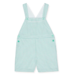Checked baby Ringo dungarees by La Coqueta at Liberty London