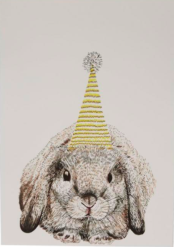 A3 Party Bunny print, Max Made Me Do It, £25, Liberty London