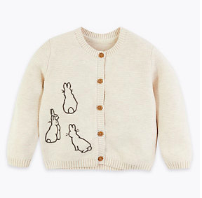 Cotton Peter Rabbit cardigan, £14, Marks & Spencer