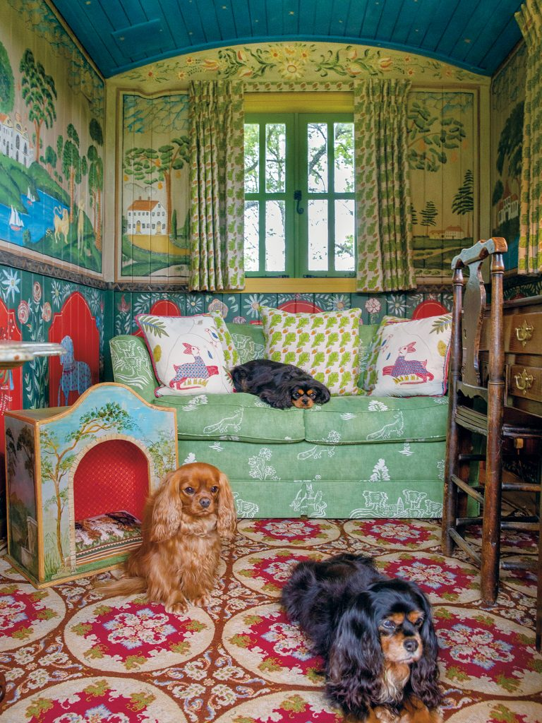 Kit Kemp's King Charles Cavalier spaniels from At Home in the English Countryside Designers and their Dogs by Susanna Salk © Stacey Bewkes