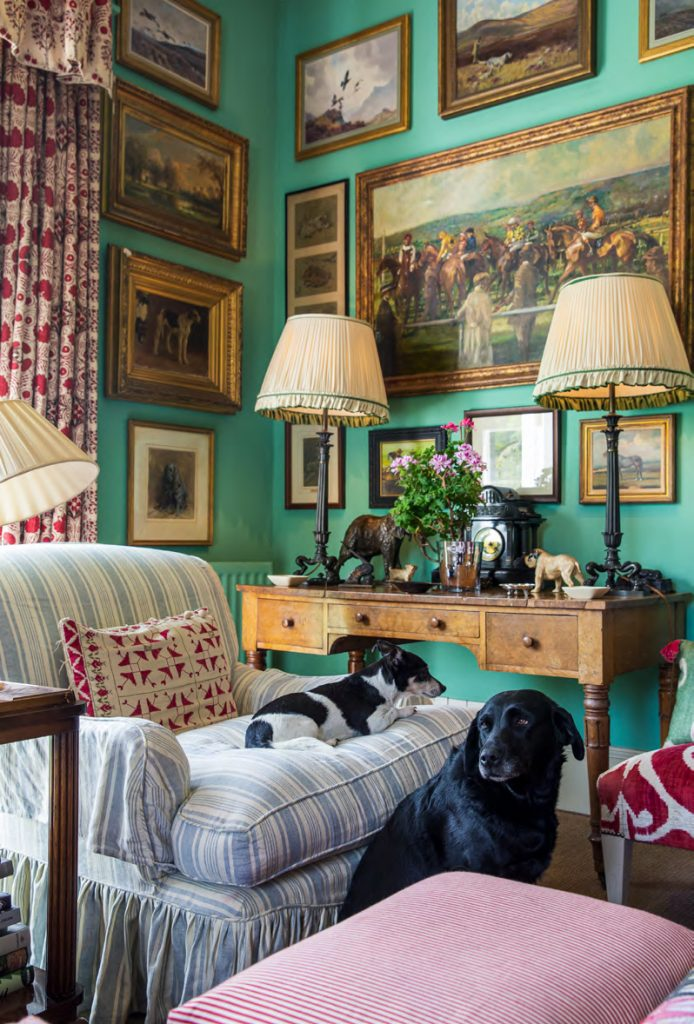 Penny Morrison's dogs from At Home in the English Countryside Designers and their Dogs by Susanna Salk © Stacey Bewkes
