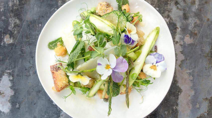 Petersham Nurseries Spring Salad with Broad Beans