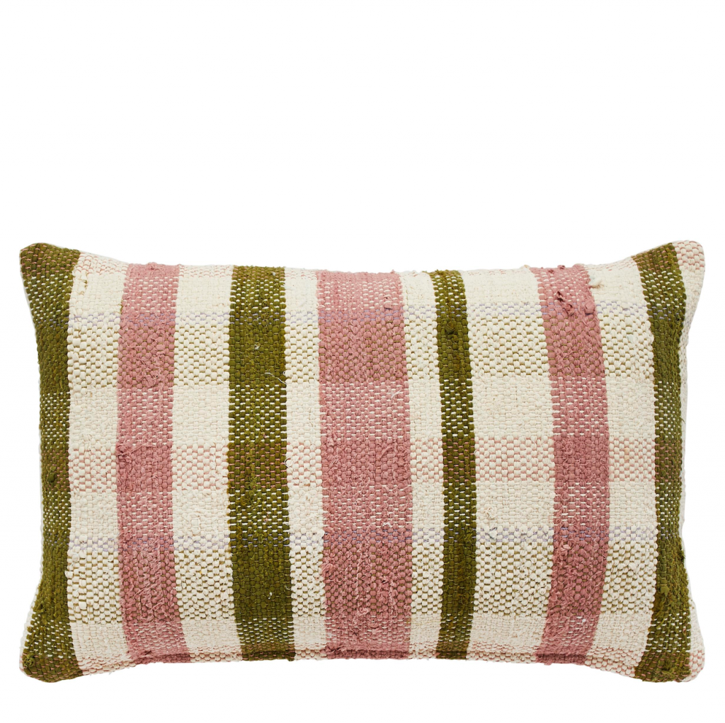 Gingham Chindi cushion, £80, Liberty
