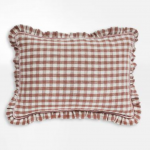 Wes Gingham cushion, £75, The Hambledon