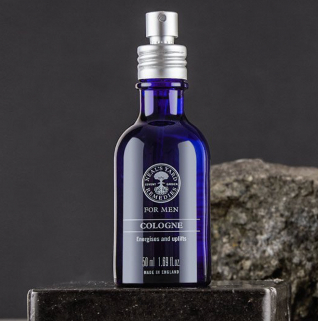 Cologne, a blend of 13 aromatherapeutic organic essential oils, £28, Neal's Yard Remedies