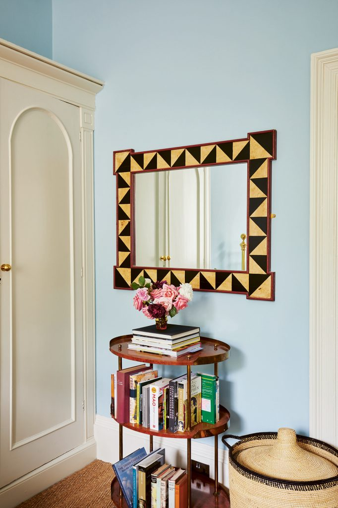 Emilio Pimental-Reid bedroom mirror flowers Bold British Design ©SarahHogan