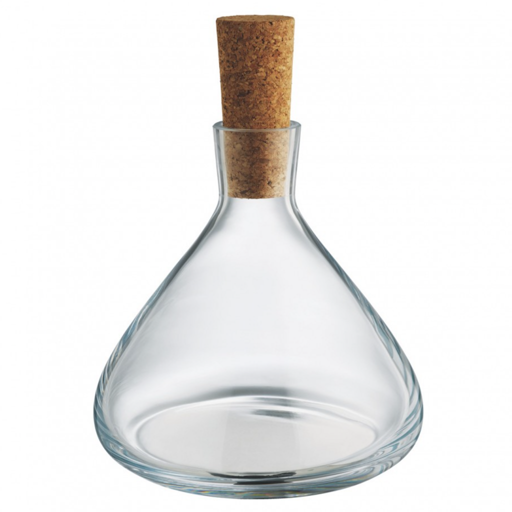 Judson 1.1l decanter with cork stopper, £25, Habitat