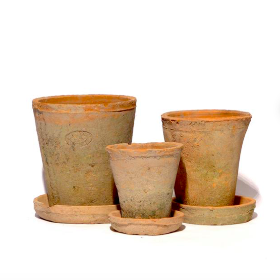 Handmade aged terracotta plant pot / planters and trays - available in natural finish and charcoal finish, Etsy