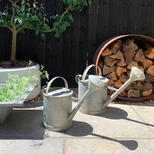 Vintage galvanised metal watering can, Home Barn