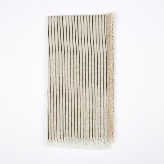 Frayed stripe napkin, £12.50, The Conran Shop