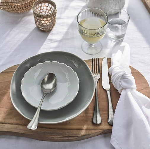 Bruton 24-piece cutlery set, £140, The White Company