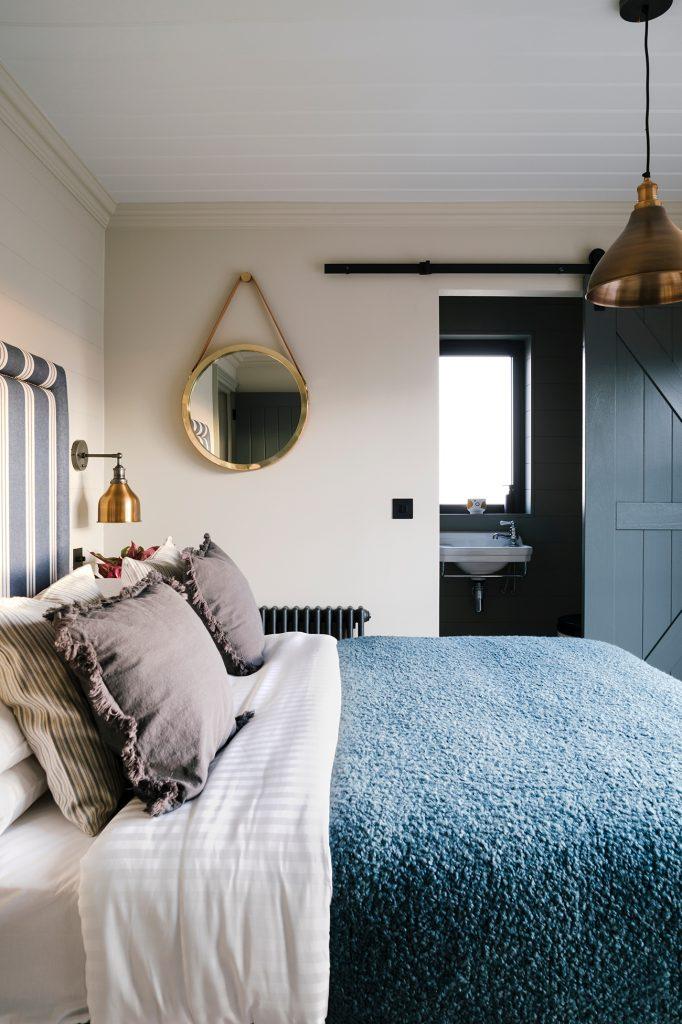The Meadows Cornwall barn holiday rental bedroom