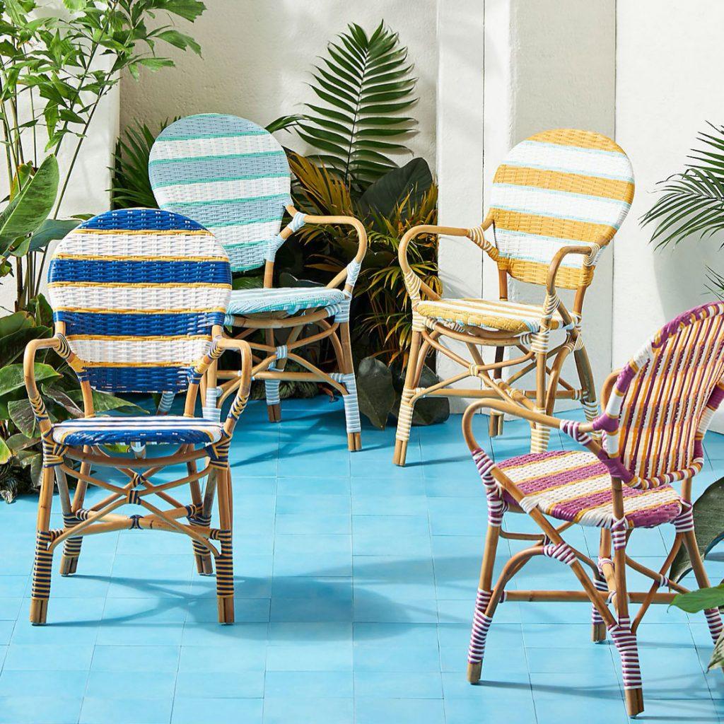 Belmar-striped-indoor-outdoor-bistro-chair,-£178,-Anthropologie