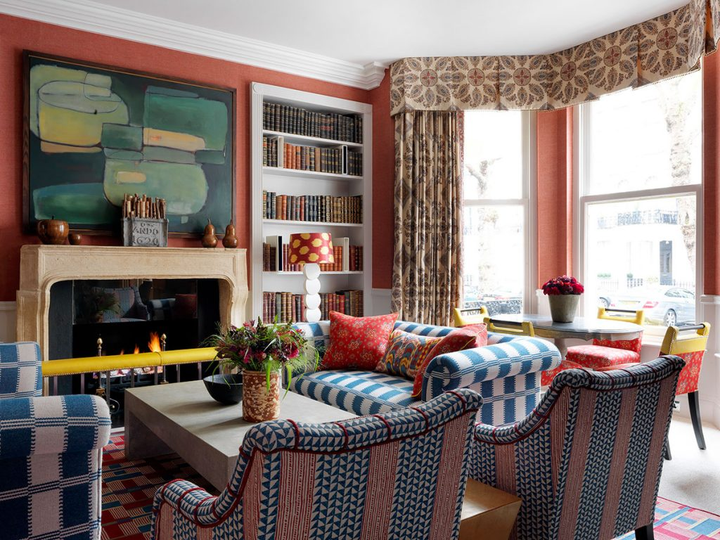 The Knightsbridge Hotel drawing room, Firmdale Hotels, designed by Kit Kemp