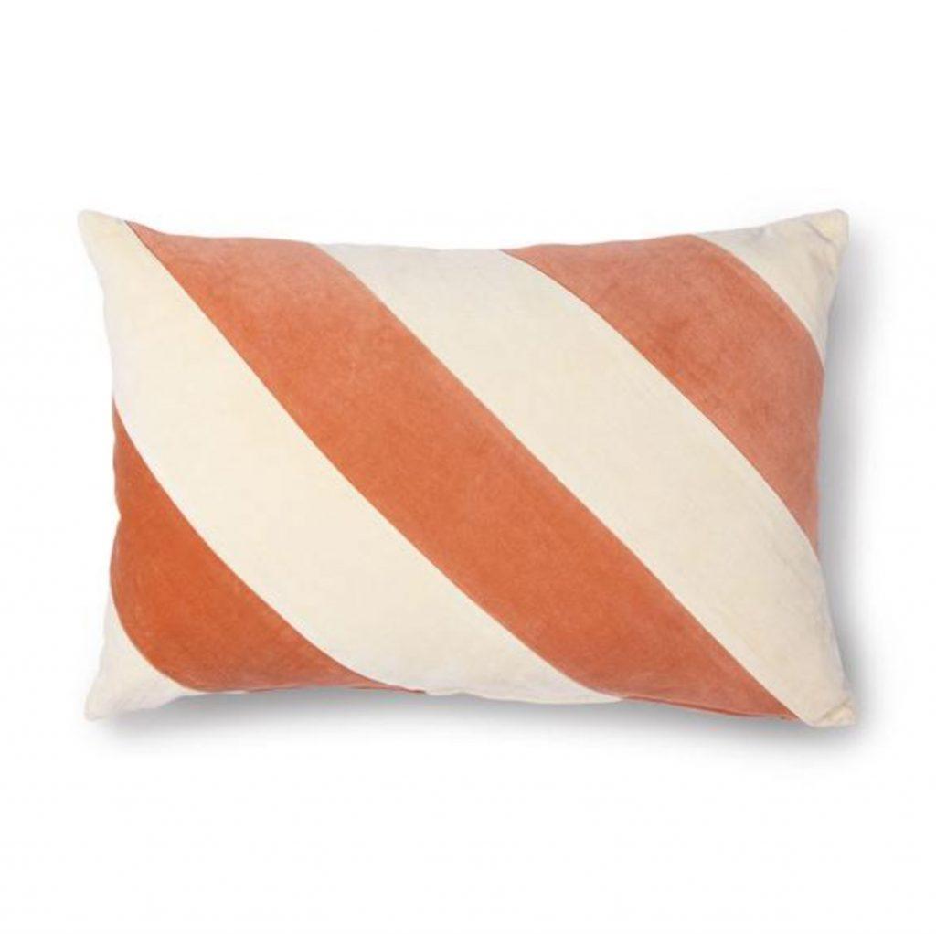 HKLiving striped velvet cushion 40x60cm, £39, Collard Manson on Trouva